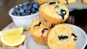 Lemon Blueberries Breakfast Muffins